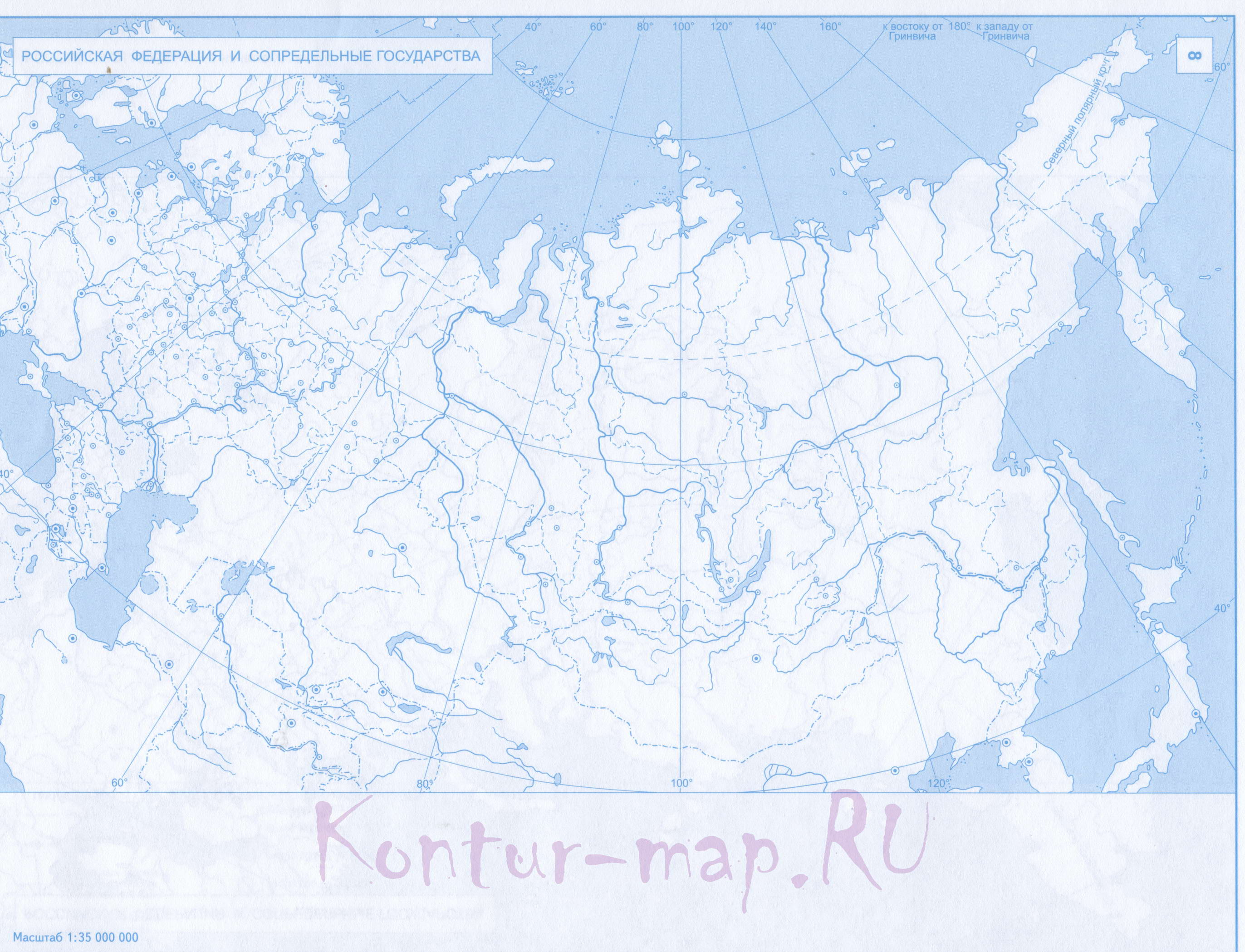 Контурные Карты Федеральных Округов
