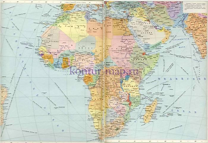 Политическая карта африки карта