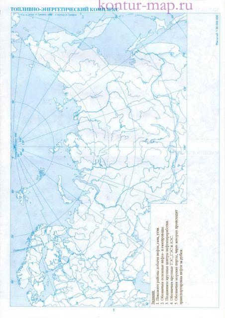 Карта россии контурная карта
