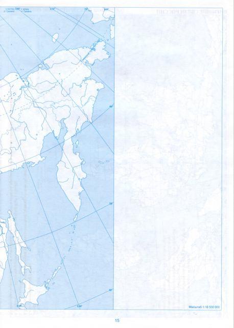 Контурная Карта Восточной Сибири И Дальнего Востока